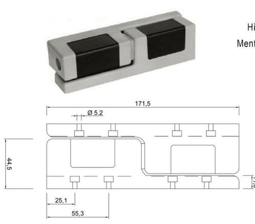 Cold room Door Hinge For Cold Rooms Chrome Rising types